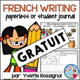 GRATUIT French Writing Prompts with Paperless option - Écr