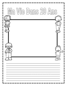 French Writing and Speaking activity using the Future tense