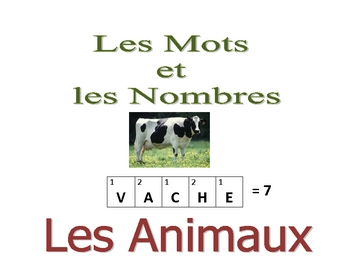 French Writing and Spelling Activity with Animals