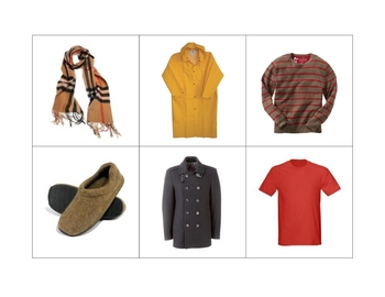 French Writing and Spelling Activity with Clothing