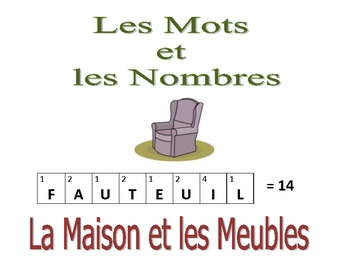 French Writing and Spelling Activity with House, Rooms, Furniture