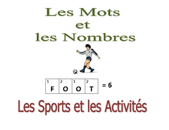 French Writing and Spelling Activity with Sports and Activities