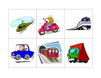French Writing and Spelling Activity with Transportation