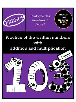 French  Written Numbers Practice - 1-999