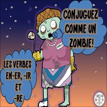 French Zombie Conjugation Bookmarks