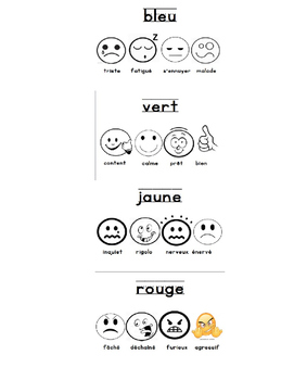 French Zones of Regulation Bookmark
