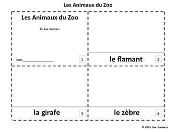French Zoo Animals 2 Emergent Reader Booklets - Les Animaux du Zoo