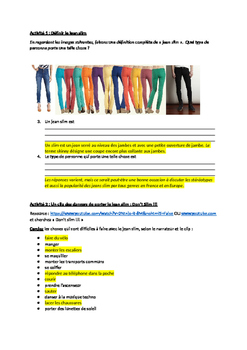 French activity on skinny jeans - clothing unit