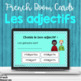 French adjective task cards - Boom cards
