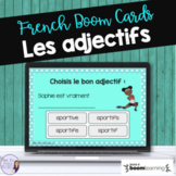 French adjective digital task cards BOOM CARDS ADJECTIFS