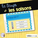 French weather task cards - Boom cards - le temps
