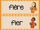 French adjective word wall/ Mur de mots - les adjectifs