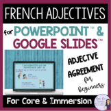 French adjectives PowerPoint & GOOGLE SLIDES Les adjectifs