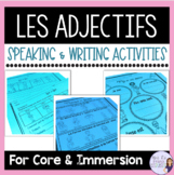 French adjectives notes, exercises, and activities
