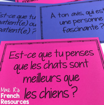 French adjectives speaking cards for beginners COMMUNICATION ORALE LES ADJECTIFS