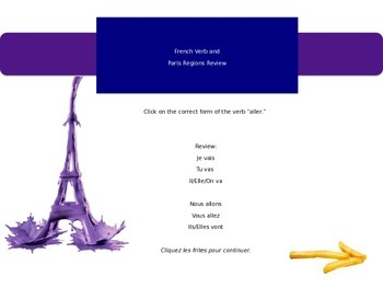 """French """"aller"""" review game"""
