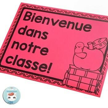French alphabet posters | alphabet bunting | bienvenue MODERN CHEVRON