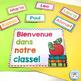 French alphabet posters | alphabet bunting | bienvenue RAINBOW CHEVRON
