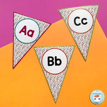 French alphabet posters | alphabet bunting | bienvenue RAINBOW DOTS