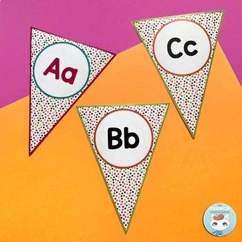 French alphabet posters | alphabet bunting | bienvenue RAINBOW DOTS