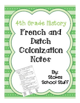 French and Dutch Colonization Notes