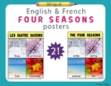French and English Four Seasons / Les Quatre Saisons Poste