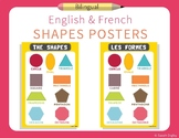 French and English Shapes Posters | Set of 2