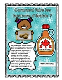 French and English instructions on making Maple Sugar Candy Ontario Core French