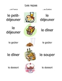 French and French-Canadian Meal Vocab Miniposter/Handout