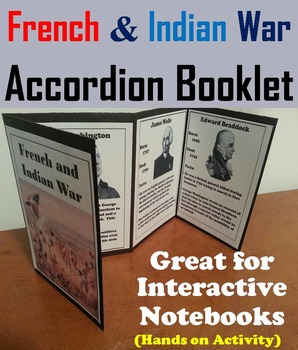 The French and Indian War Activity/ Interactive Notebook Foldable