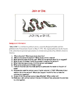 French and Indian War: American Revolution: Join or Die Cartoon