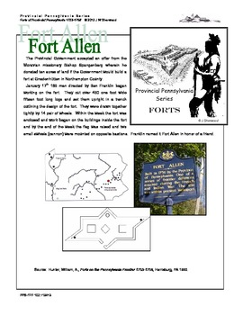 French and Indian War: Create Your Own PA Fort Allen Model