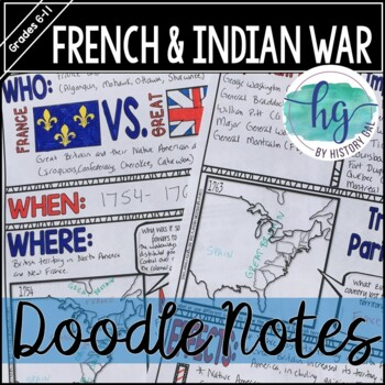French and Indian War Doodle Notes