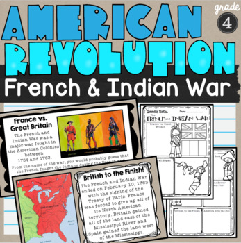 French and Indian War Lesson and Doodle Notes SS4H1a