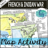 French and Indian War Map Activity (Print and Digital)