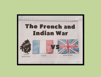 French and Indian War Map Coloring Activity- Editable