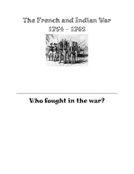 French and Indian War Note-taking packet