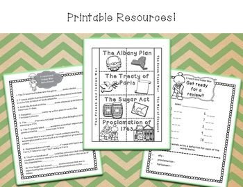 French and Indian War PowerPoint Lesson and Printables