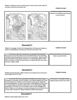 French and Indian War Primary Source Analysis Questions