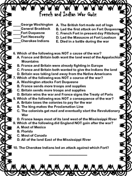 French and Indian War Quiz