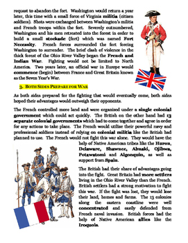 French and Indian War Reading Passage