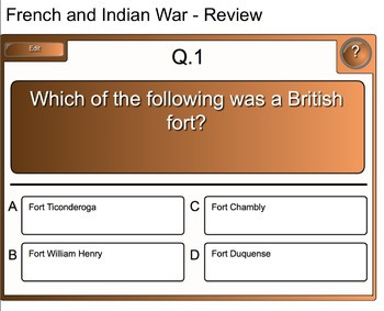 French and Indian War - Smartboard Activity