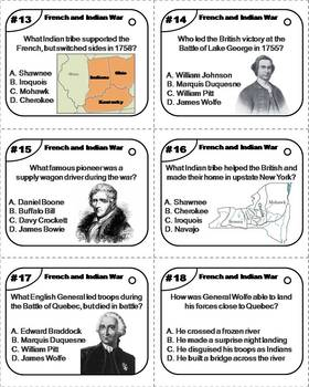 French and Indian War Task Cards