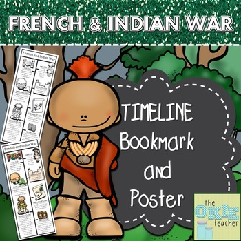 French and Indian War Timeline Bookmark and Poster