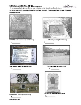 French and Indian War: Types of Remembrances