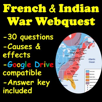 French and Indian War Webquest Animated Map