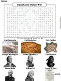 French and Indian War Worksheet/ Word Search (Seven Years War)