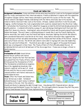 Map Of France With Key.French And Indian War Worksheet With Maps And Answer Key By Jmr History