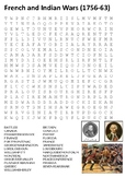 French and Indian Wars Word Search