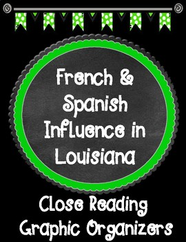 French and Spanish Influence in Louisiana Close Reading Graphic Organizers